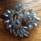 1960s Large Blue Jewelled Brooch Pin